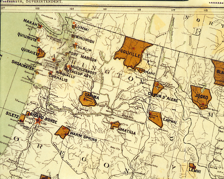 Indian Tribes In Us Map.American Indians Of The Pacific Northwest Collection