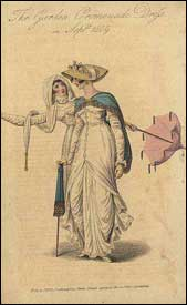 Walking dresses, 1809