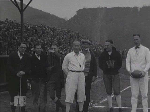 Players and Referees at Football Game, ca. 1926