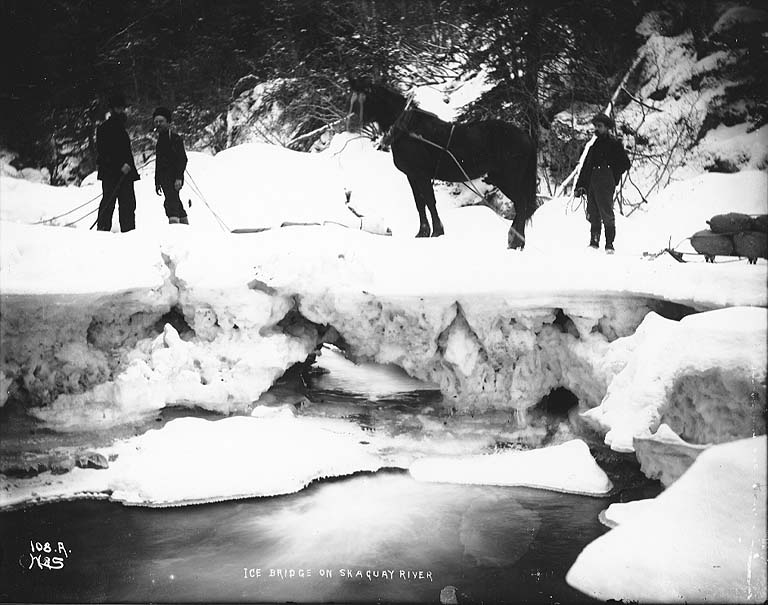 "knowledge or instinct jack london s ""to build a fire"" edsitement  men crossing ice bridge"