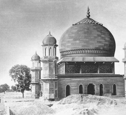 Conjectural restoration of the Chauburj, Agra's trans-Jamuna region, India
