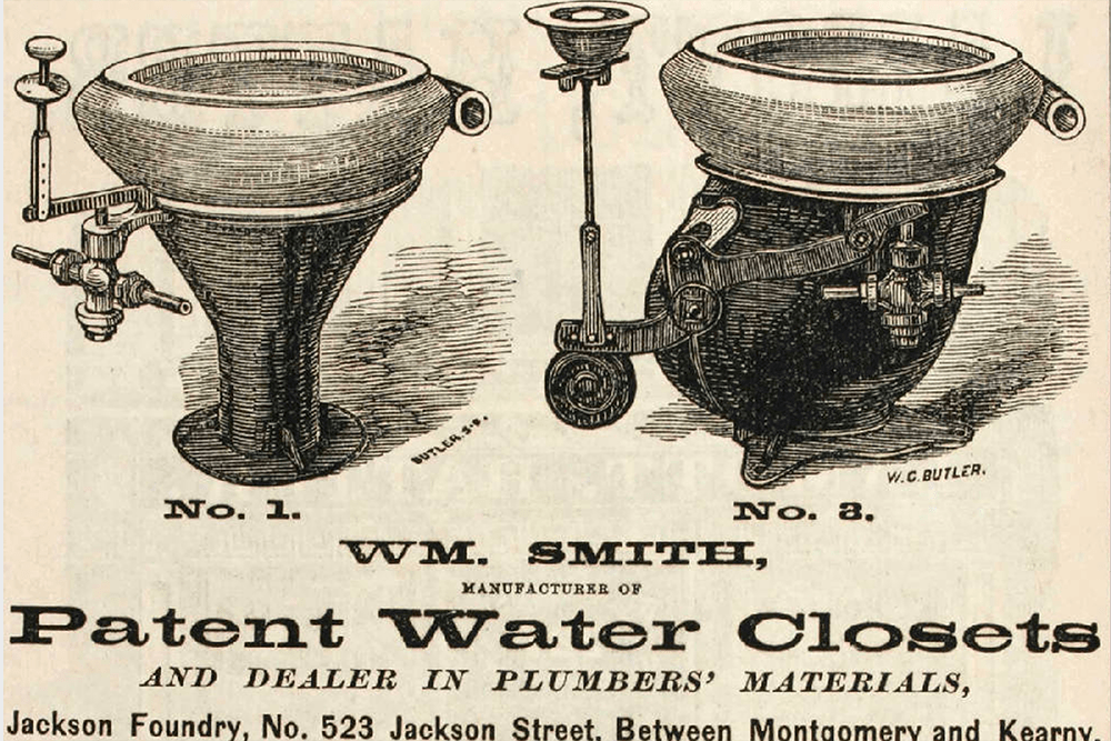 Wm. Smith's Patent Toilets (1871)