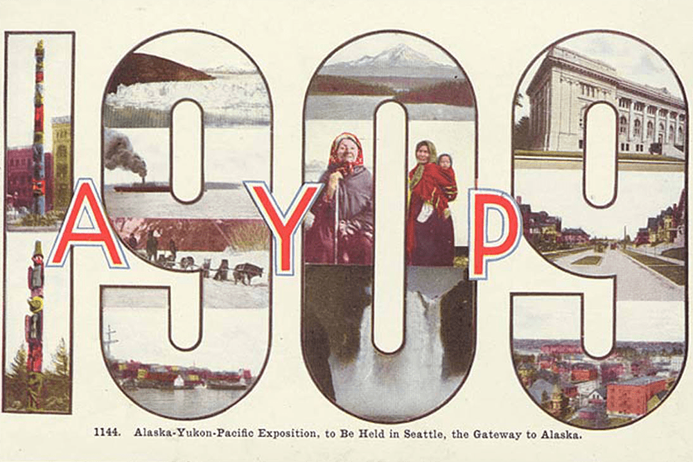 Advertisement for the Alaska-Yukon-Pacific Exposition, 1909