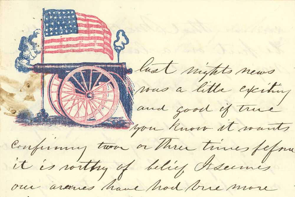 Letter to Arthur Tappan Strong from his friend Robert, February 9, 1862