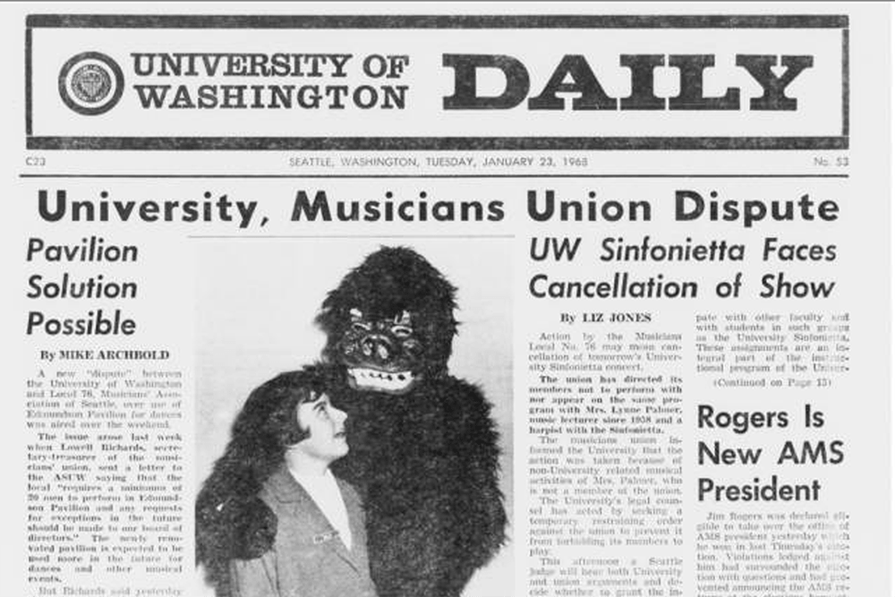University of Washington Daily, January 23, 1968