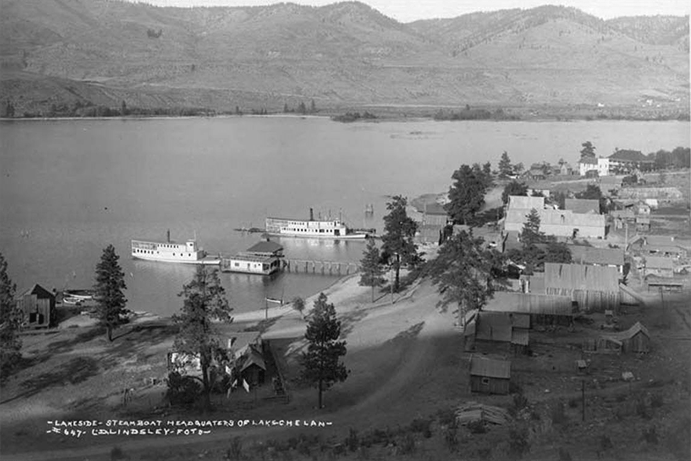 Steamboat landing, Lake Chelan, n.d.