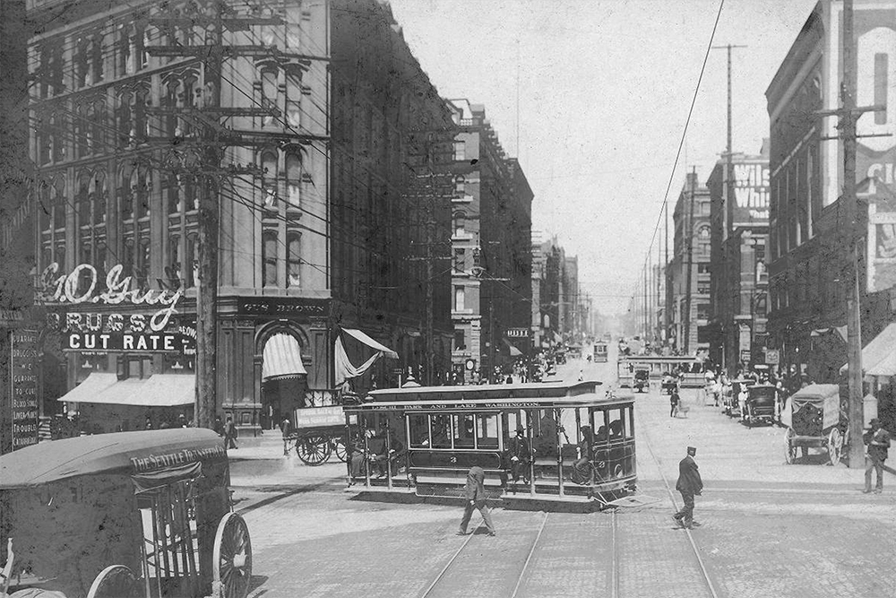 2nd Ave. from Yesler Way, ca. 1903