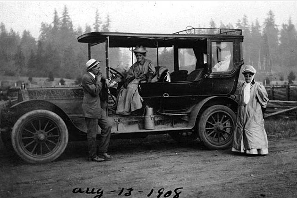 Automobile touring, August 13, 1908