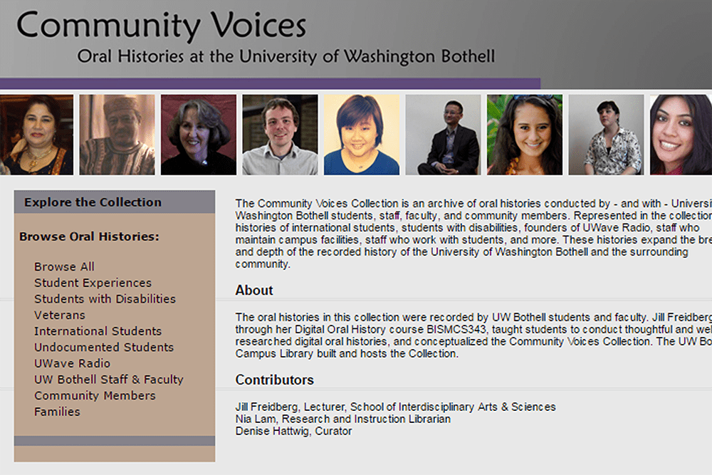 UW Bothell Community Voices
