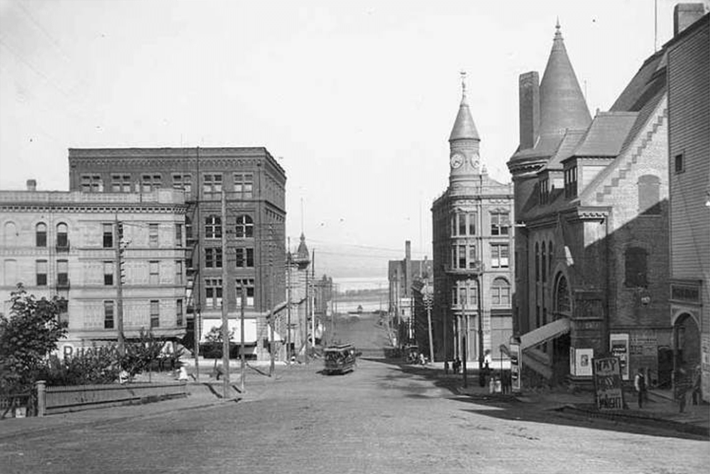 Ninth Street from between St. Helens Avenue and D Street, Tacoma, 1893