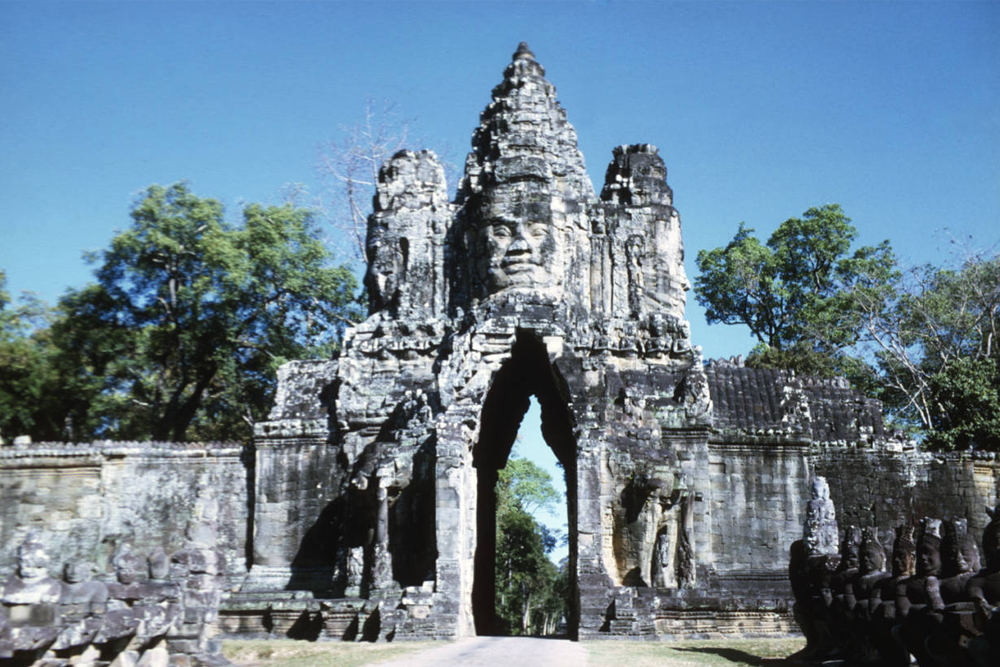 Angkor Thom - South Gate in Angkor, Cambodia
