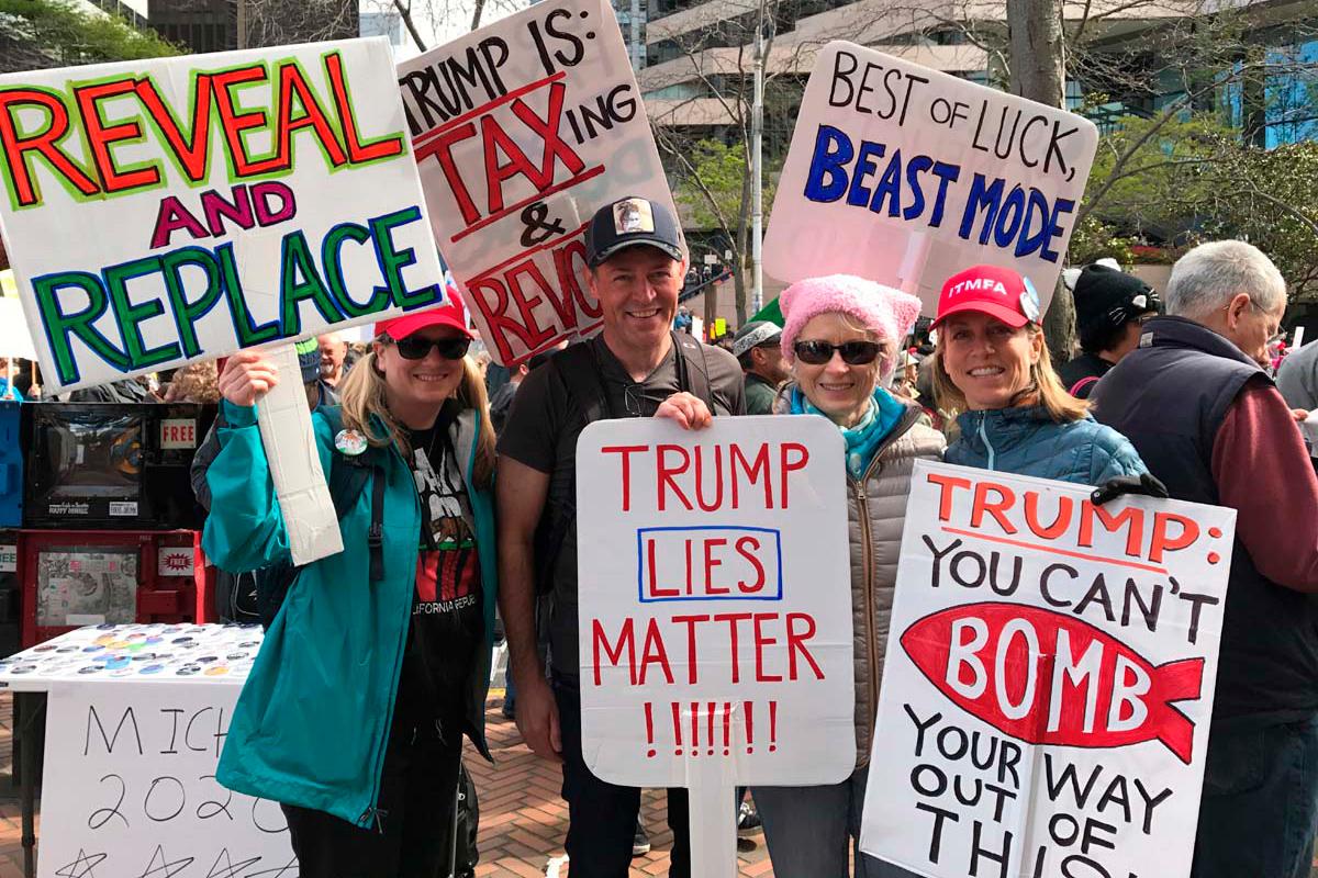 I Really Care protest BUTTON Anti Donald Trump Resist March Immigration Do U